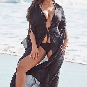 Black kimono cover up